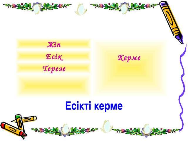 Есікті керме Жіп Керме Есік Терезе
