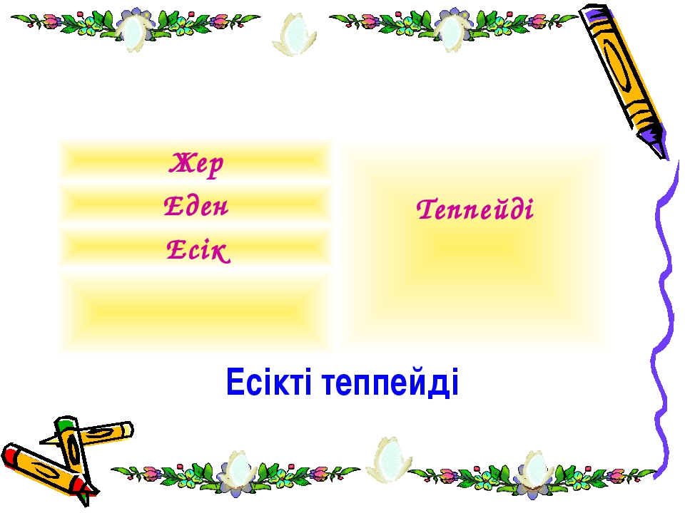 Есікті теппейді Жер Теппейді Еден Есік
