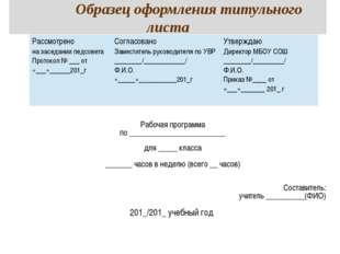 Лист Коррекции Рабочей Программы Образец - фото 8