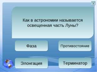 Фаза Противостояние Терминатор Элонгация Как в астрономии называется освещенн