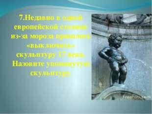 7.Недавно в одной европейской столице из-за мороза пришлось «выключить» скуль