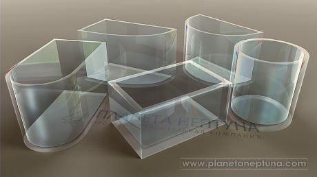 Различные формы акрилового стекла