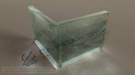 Царапина на силикатном стекле