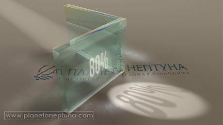Прохождения света через силикатное стекло