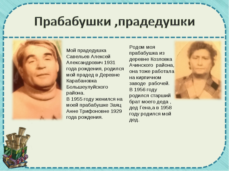 Мой прадедушка Савельев Алексей Александрович 1931 года рождения, родился мой...