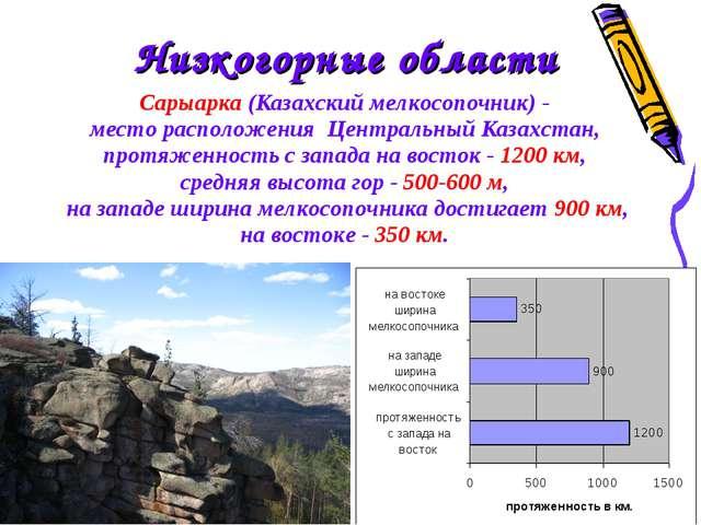 Сарыарка (Казахский мелкосопочник) - место расположения Центральный Казахс...