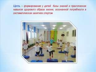 Цель – формирование у детей базы знаний и практических навыков здорового обра