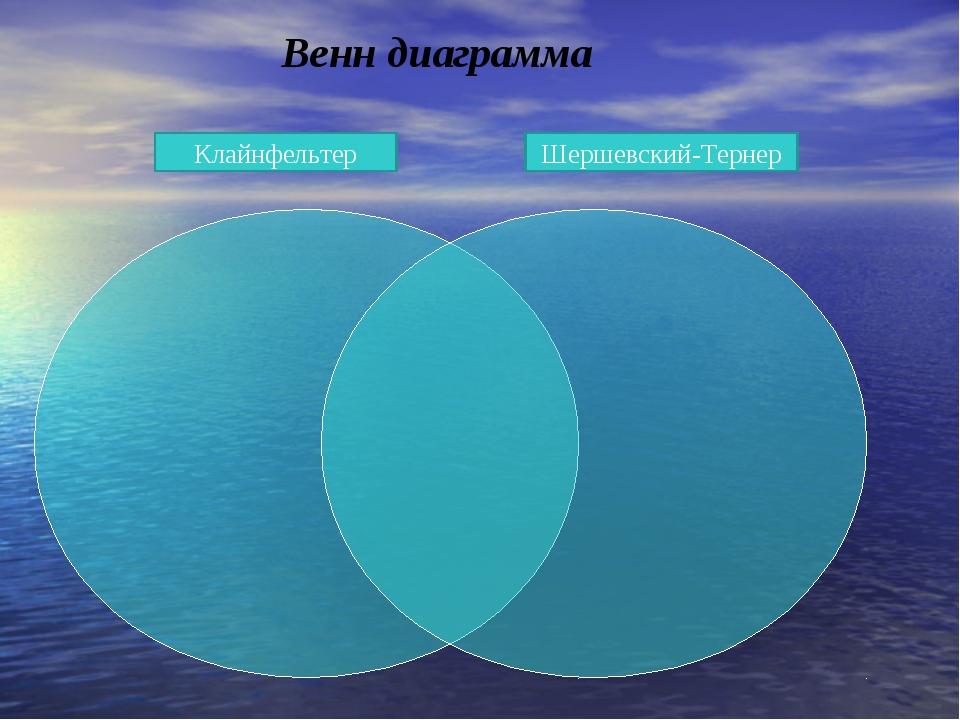 Венн диаграмма Клайнфельтер Шершевский-Тернер