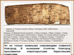 Но не только книжными сокровищами славился Новгород. В нынешнем столетии Новг