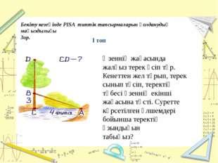 Бекіту кезеңінде PISA типтік тапсырмаларын қолданудың маңыздылығы Зор. Өзенн