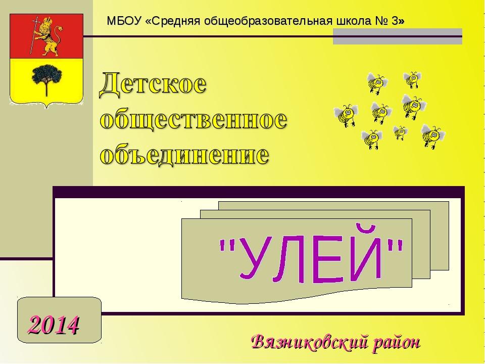 Вязниковский район 2014 МБОУ «Средняя общеобразовательная школа № 3»