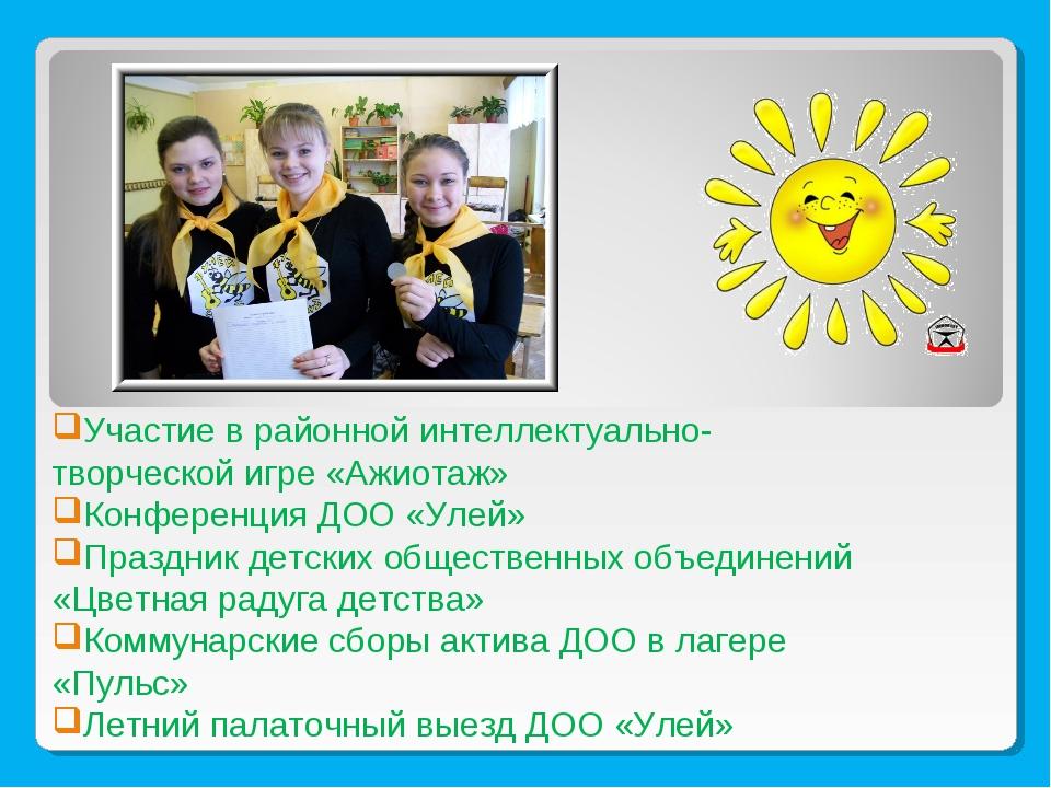 Участие в районной интеллектуально-творческой игре «Ажиотаж» Конференция ДОО...