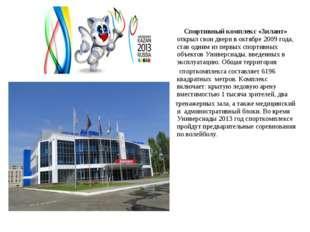 Спортивный комплекс «Зилант» открыл свои двери в октябре 2009 года, став одн
