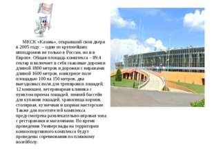 МКСК «Казань», открывший свои двери в 2005 году, – один из крупнейших ипподр