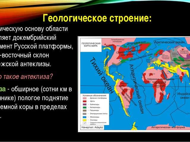 Как связано тектоническое и геологическое строение территории