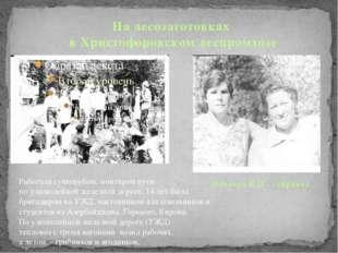 На лесозаготовках в Христофоровском леспромхозе Нечаева Е.П. (справа) Работа