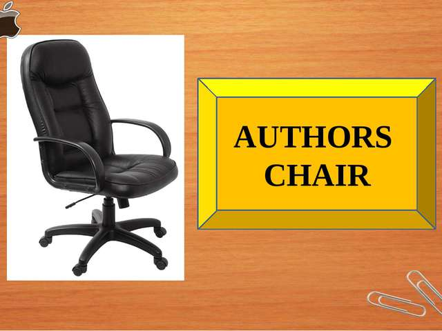 AUTHORS CHAIR