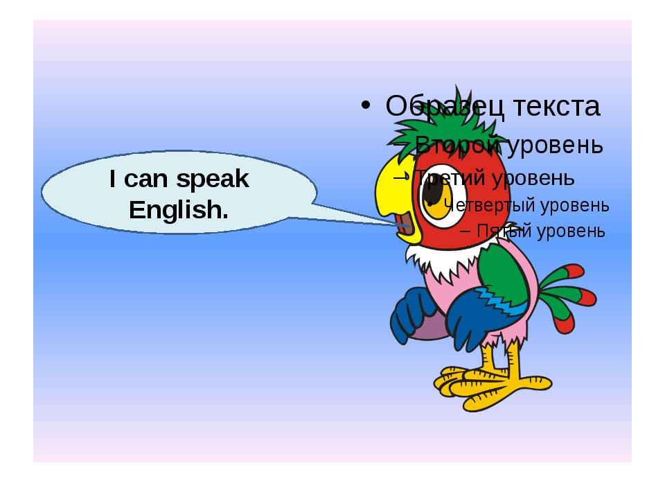 I can speak English.