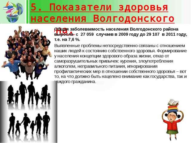 5. Показатели здоровья населения Волгодонского района. Общая заболеваемость н...