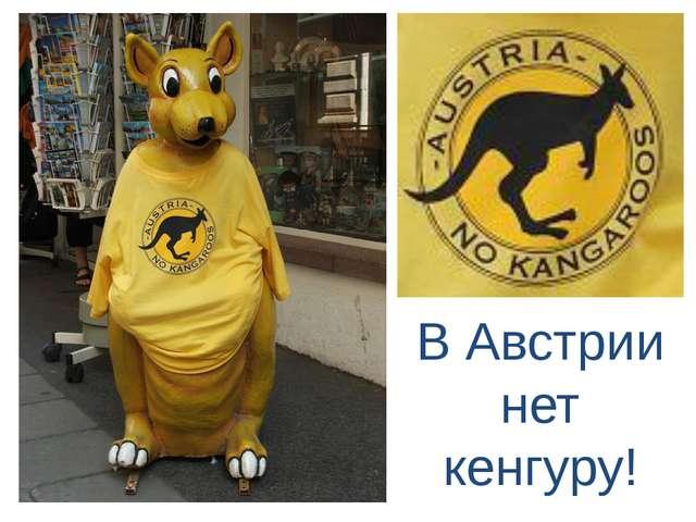 В Австрии нет кенгуру!