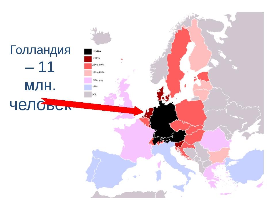 Голландия – 11 млн. человек