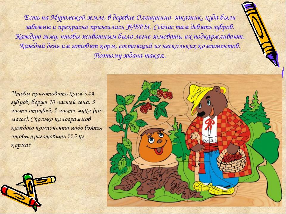 Есть на Муромской земле, в деревне Олешунино заказник, куда были завезены и...