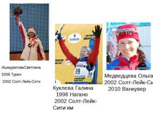 Чемпионы золото ИшмуратоваСветлана  2006Турин 2002Солт