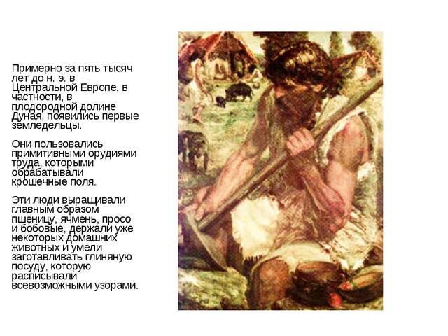 Примерно за пять тысяч лет до н. э. в Центральной Европе, в частности, в плод...