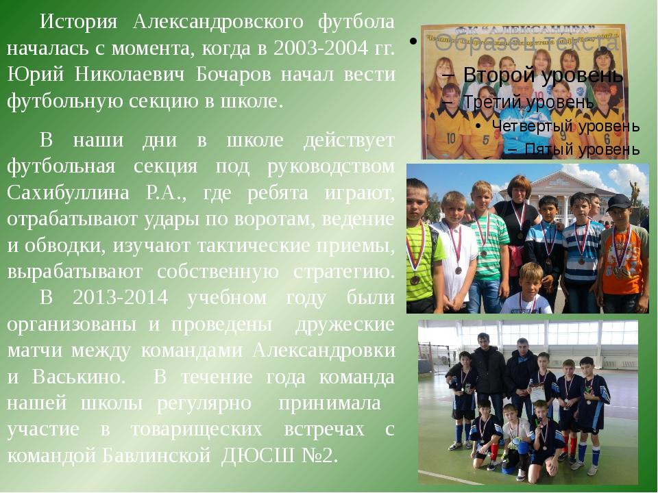 История Александровского футбола началась с момента, когда в 2003-2004 гг. Ю...