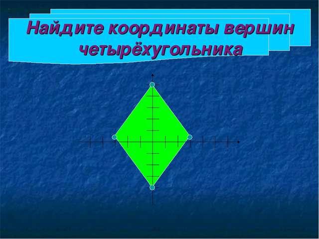 Найдите координаты вершин четырёхугольника