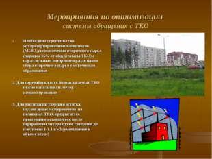Мероприятия по оптимизации системы обращения с ТКО Необходимо строительство м