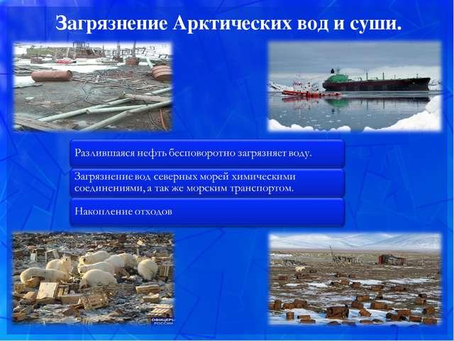 Загрязнение Арктических вод и суши.