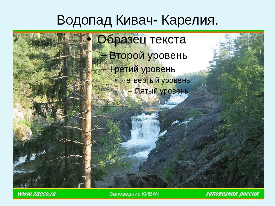 Водопад Кивач- Карелия.