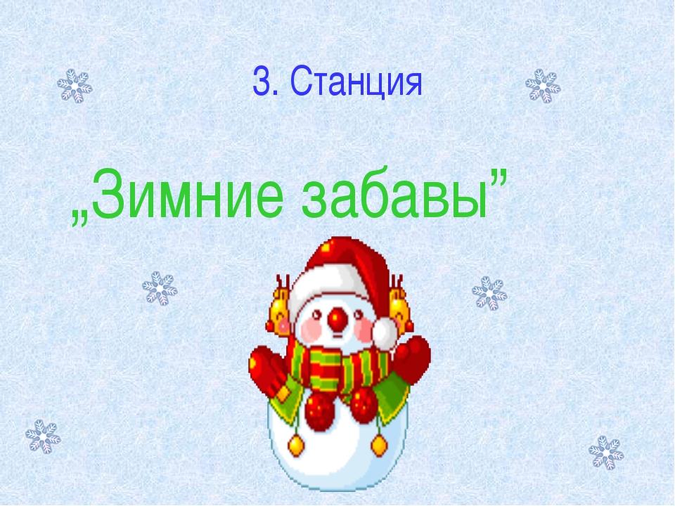 "3. Станция ""Зимние забавы"""