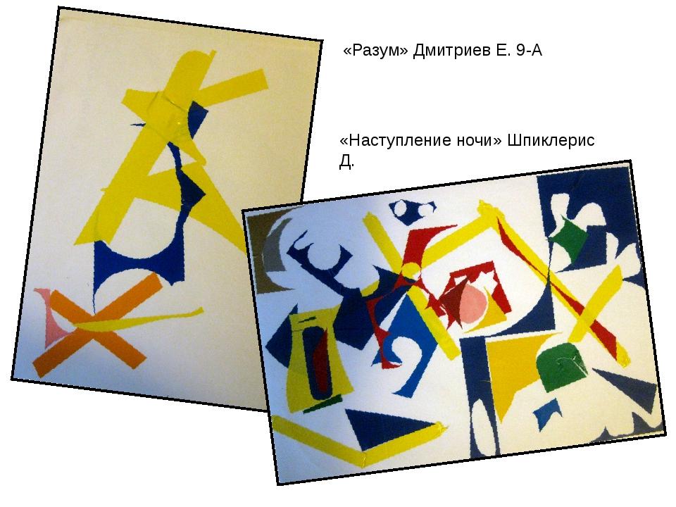 «Разум» Дмитриев Е. 9-А «Наступление ночи» Шпиклерис Д.
