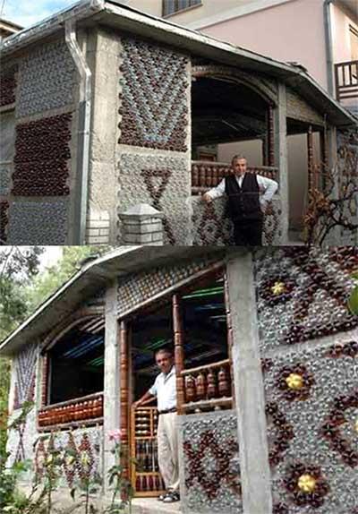 Дома из пластиковых бутылок для дома