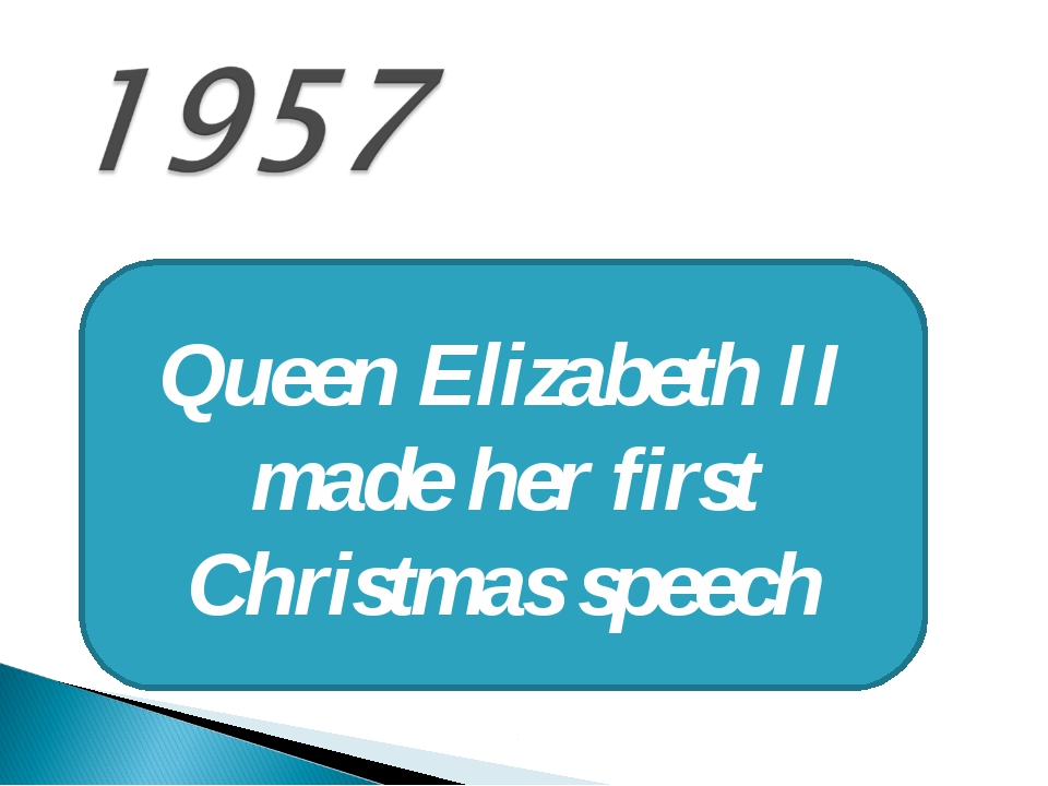 Queen Elizabeth II made her first Christmas speech