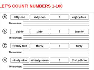 LET'S COUNT! NUMBERS 1-100