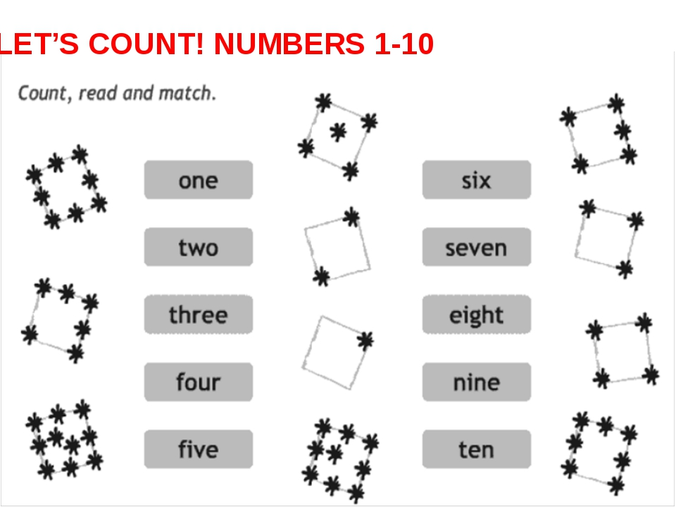 LET'S COUNT! NUMBERS 1-10