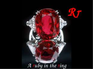 Rr A ruby in the ring