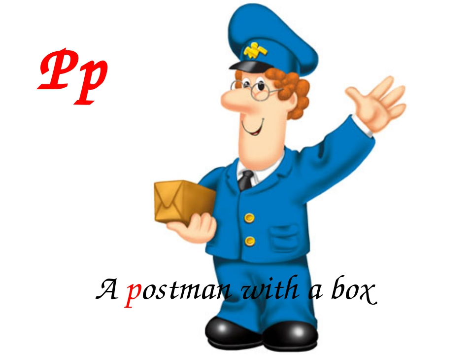Pp A postman with a box