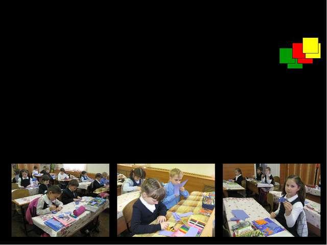 На уроках технологии ребята вырезали 68 квадратов. Зелёных квадратов было 30...