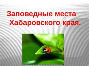 Заповедные места Хабаровского края.