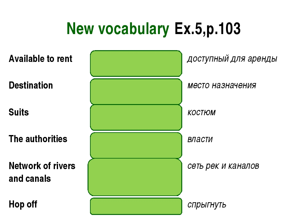 New vocabulary Ex.5,p.103 Available to rentthere to borrowдоступный для ар...