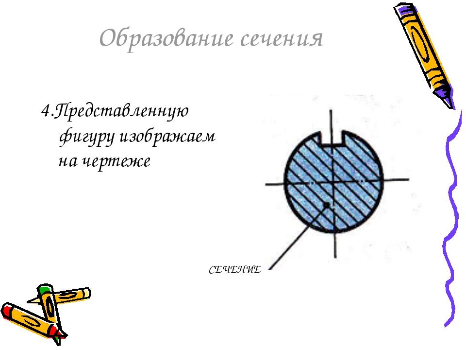 Образование сечения 4.Представленную фигуру изображаем на чертеже СЕЧЕНИЕ