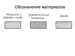 Обозначение материалов