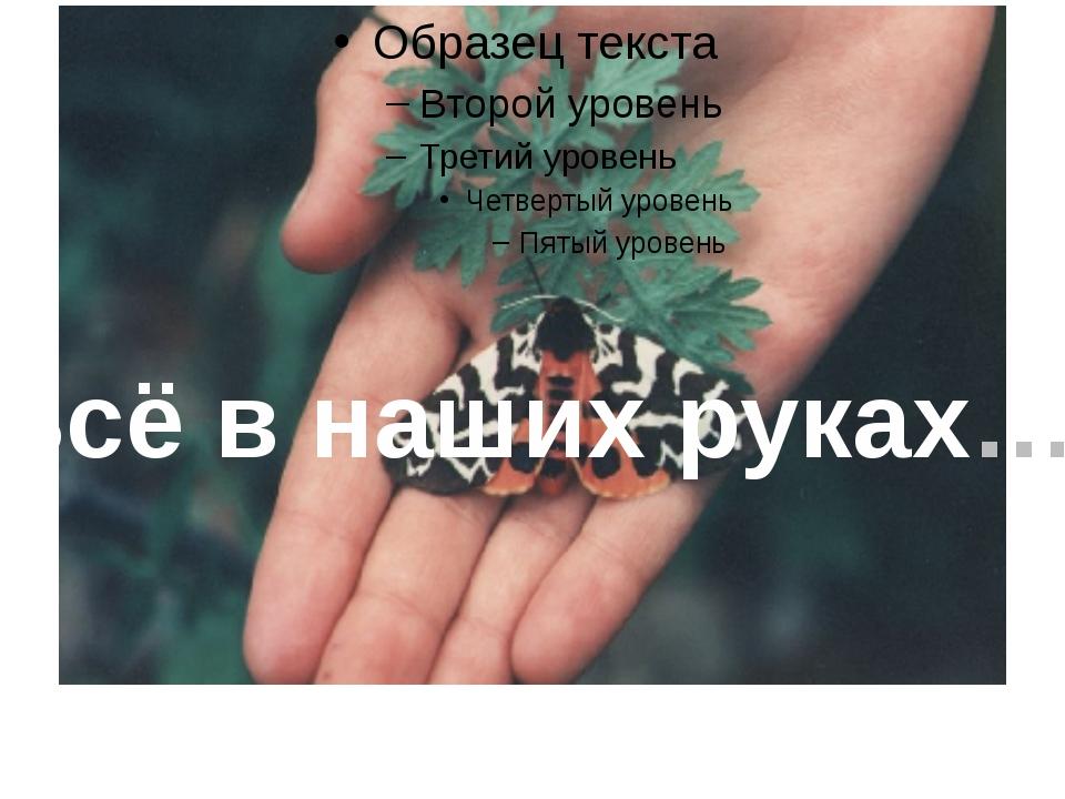 Всё в наших руках… Всё в наших руках…