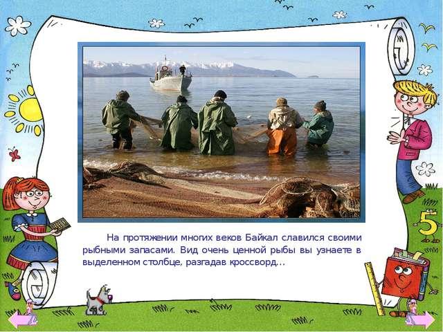 На протяжении многих веков Байкал славился своими рыбными запасами. Вид очен...
