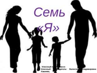 Семь «Я» Классный час в 6 классе Классный руководитель: Валентина Владимиров