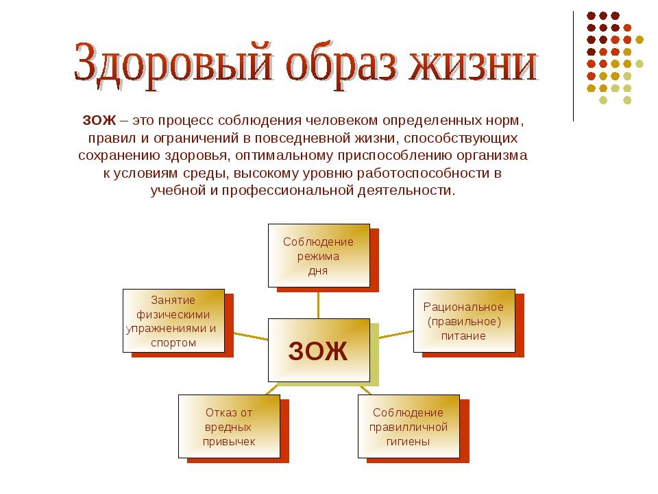ЗОЖ – это процесс соблюдения человеком определенных норм, правил и ограничени...